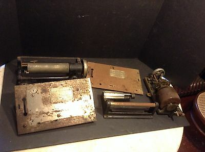 Circa 1900 Columbia Cylinder Phonograph Parts Pieces AT Bedplate Motor