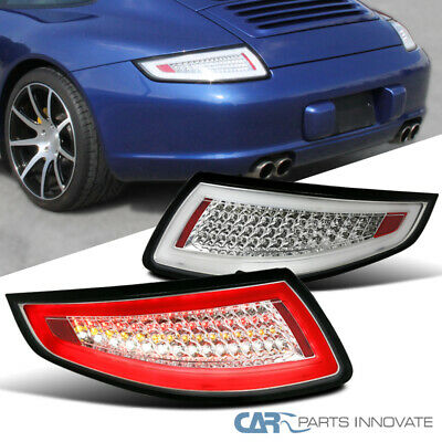 2005-2008 Porsche 911/997 GT3 GT2 Turbo Carrera Targa Clear Lens LED Tail Lights