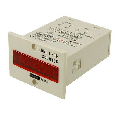 New JDM11-6H 6 Digits Display Electronic Counter Relay Control DC 24V