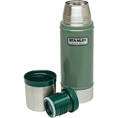 Stanley Classic Vacuum Bottle 16oz Hammertone Green - Metal Thermos - Leak Proof