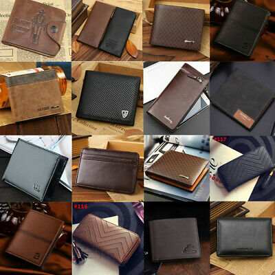 Men's Genuine Leather Bifold Wallet ID Credit Card Holder Mini Purse Money Clip