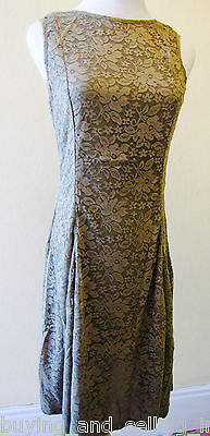Brand New NEW GIRL Olive Green Fully Lined Lace Dress - sizes 8,10,12,14