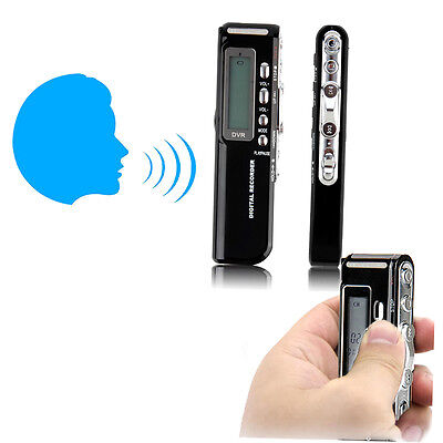 8GB 650Hr USB LCD Screen Digital Audio Voice Recorder Dictaphone MP3 Player AA