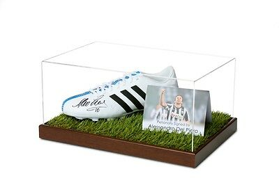 Alessandro Del Piero Signed Football Boot Display Case Juventus Autograph Italy