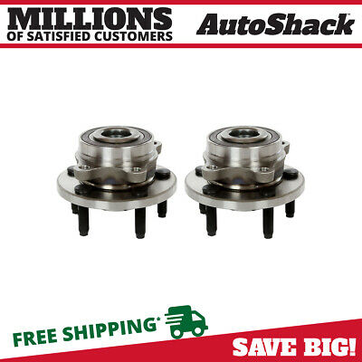 Pair of Front or Rear Hub Bearing Assemblies fits Ford Lincoln Edge Flex MKS
