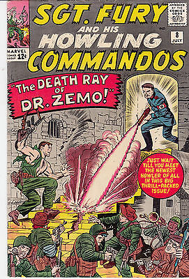 SGT. FURY & His Howling Commandos #8 (July 1964) *1st Percival Pinkerton *B Zemo