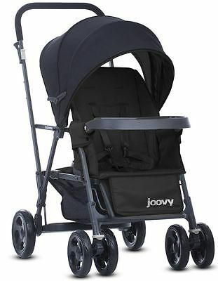 Joovy Caboose Graphite Double Stand On Twin Tandem Stroller Black NEW 2016