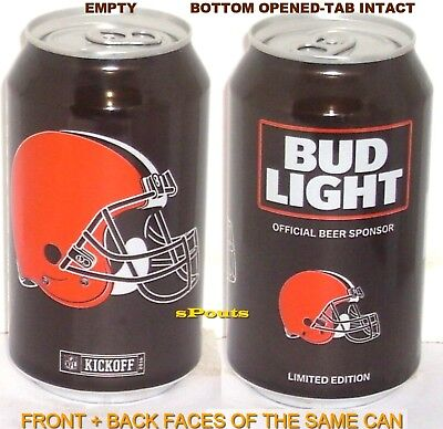 2016 Cleveland Browns Nfl Kickoff Bud Light Beer Can Sports Ohio Football Helmet