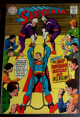 SUPERMAN #206 (FN-) Superman The Assassin? Vintage DC 1968 Silver-Age Issue