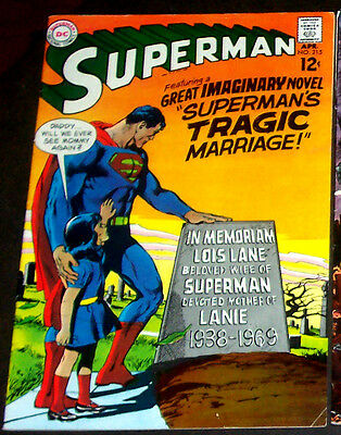 SUPERMAN #215 (VF+) Classic Imaginary Tale! 1969 DC Silver-Age