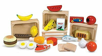 Melissa & Doug Food Wooden Set Features Items From 5 Food Groups Kids Toy Play