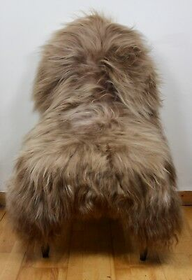XL Large Natural Grey/Ivory/Brown/Black Genuine Icelandic Sheep Sheepskin Rug