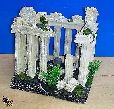 Ancient Columns Airstone Bubble Aquarium Fish Tank Ornament Decoration New