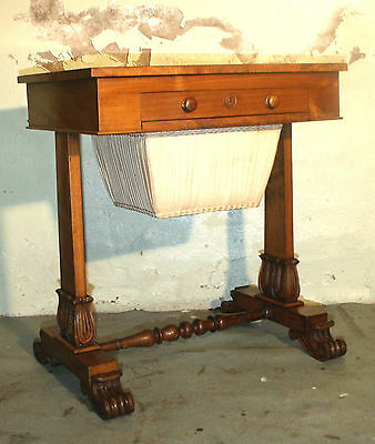 Very fine Regency mahogany sewing Lady's work box side table hall table 1830