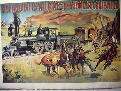 Buffalo Bill's Wild West  print-poster 1950's reproduction