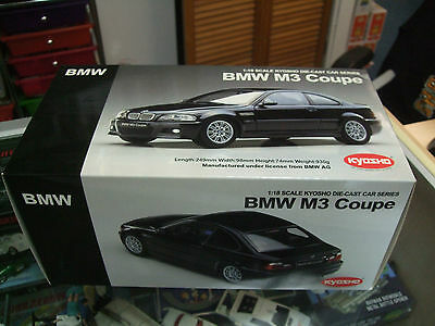 BMW M3 Coupe BLACK by  Kyosho 08503 k scale 1:18