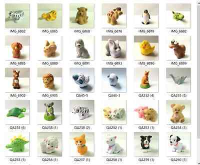 Random 10x Fisher-Price Little People Zoo Farm Animal pets figure Toy Gift QA344
