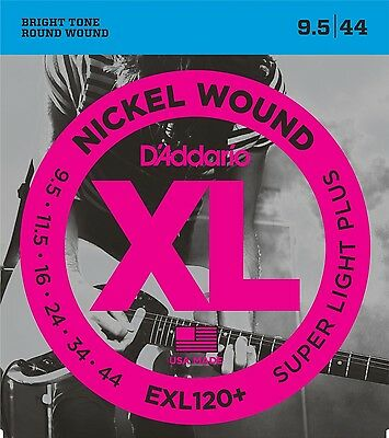 """D'Addario EXL120+ Electric Guitar Strings 9.5-44. The Ideal """"Step Up"""" String Set"""