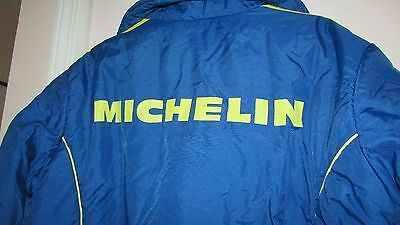 Vintage Michelin Motorcycle Pit Crew Down Jacket Size Large 1970's