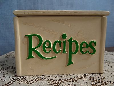 Vintage 1985 FTD Resin Retro Recipe Box Flowers Pink Yellow Green