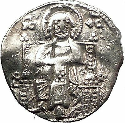 1268AD MEDIEVAL Venice Doge LORENZO TIEPOLO Silver Ancient Coin w CHRIST i57567