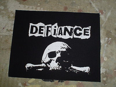 Defiance Cloth Patch Resist Deprived The Riffs Nausea Fleas And Lice Punk Diy