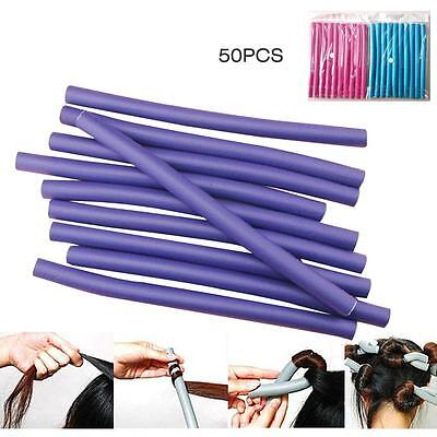 50PCS Curl DIY Hair Curlers Tool Styling Rollers Spiral Circle Magic Roller BA