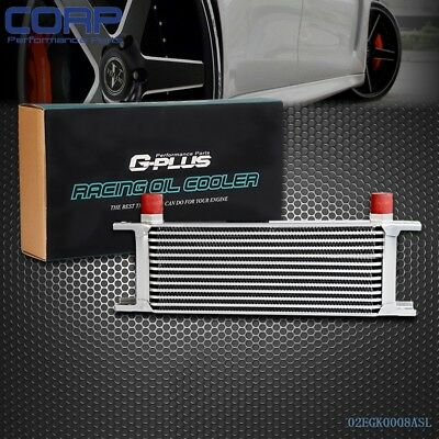 13 ROW AN-10AN Universal Aluminum Engine Transmission Oil Cooler Silver