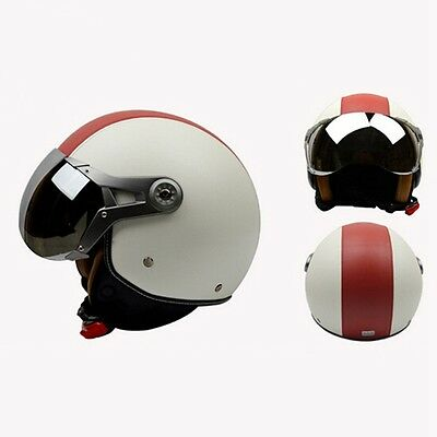 Vintage Motorcycle Helmet Stylish 3/4 Open Face Motorcross Safety Accessories