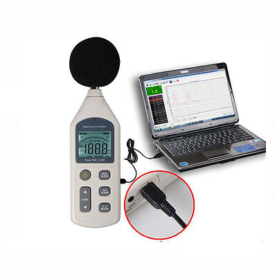 Digital Sound Pressure Level Meter 30 ~ 130 dB USB Noise Measurement With SD