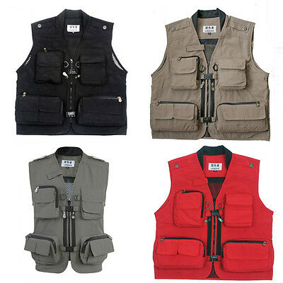 Men's Fishing,Hunting,Shooting Outdoors,Photo Vests 4 Color&4 Size Hot sale