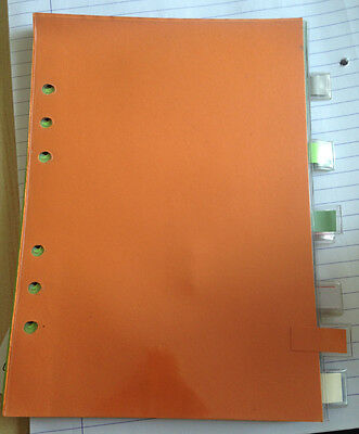 Genuine Mulberry 10x plastic planner dividers with tabs A5 used - not a set