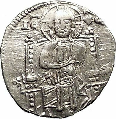1268AD MEDIEVAL Venice Doge LORENZO TIEPOLO Silver Ancient Coin w CHRIST i57573