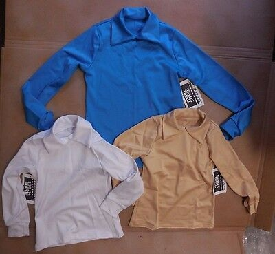 NEW Wolff Fording Collared Long sleeve shirt Child  sizes 86242 spndx 3clrs
