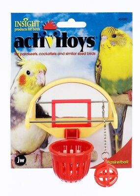 JW Pet Activitoy Birdie Basketball Physically Mentally Mirrored Backboard Toy