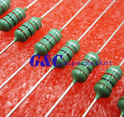 50PCS 0410 Color Ring Inductance 1MH 102K 1/2W Axial RF Choke Coil Inductor