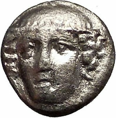 AINOS THRACE 374BC Silver Diobol Hermes Goat Authentic Ancient Greek Coin i57598