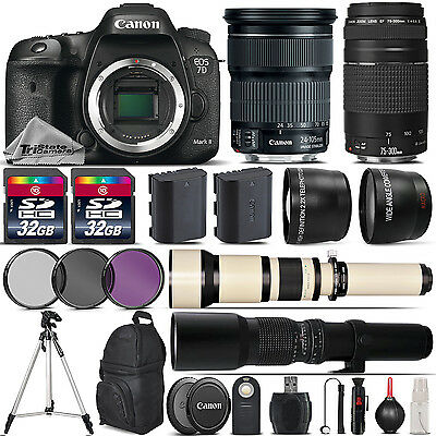 Canon EOS 7D Mark II DSLR Camera + 24-105mm IS STM + 75-300mm Lens - 64GB Kit
