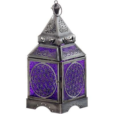 Flower of Life Glass & Metal Candle Lantern!