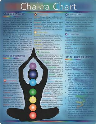 Chakras Laminated Chart! What They Are and How to Balance!