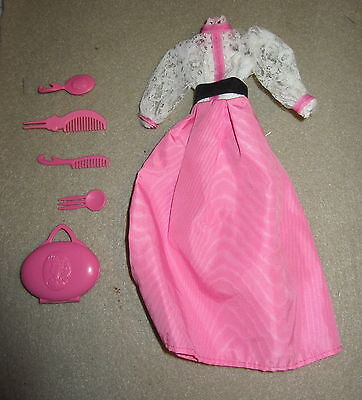 Vintage Barbie Angel Face Dress And Accessories