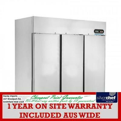 FED commercial Three Door Upright Display Freezer full stainless steel SUF1500