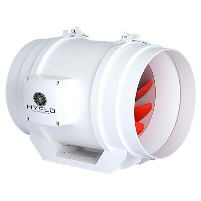 Exhaust Fan Inline Hot or Cold Air Transfer Extraction 20cm Mixflow HyFlo 200mm