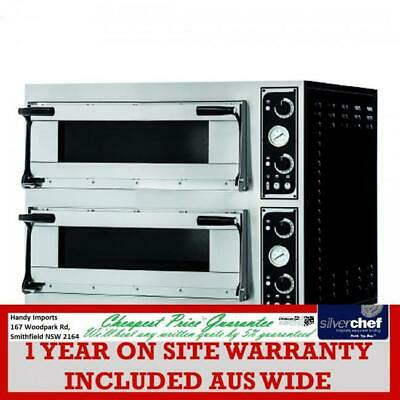 Fed Commercial Prisma Food Pizza Ovens Double Deck 8 X 40Cm Rock Wool Insul Tp-2