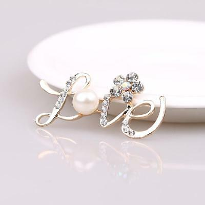 10pcs LOVE with Flower Embellishments Crystal Pearl For Wedding Invitation