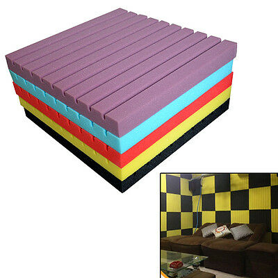 High-density Soundproof Wedge Tile Acoustic Foam Sound Absorption Panel New