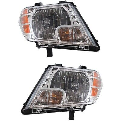 Headlight Headlamp Left & Right Pair Set of 2 for 09-13 Nissan Frontier Truck