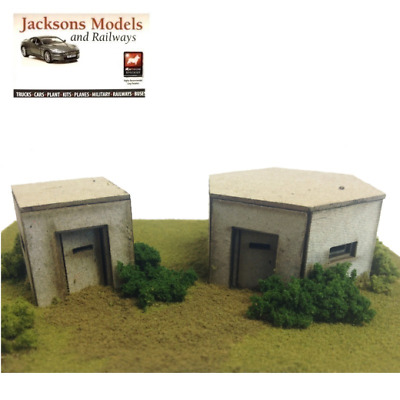 Metcalfe PO520 OO/HO WWII Pillboxes Laser Cut Mini Kit