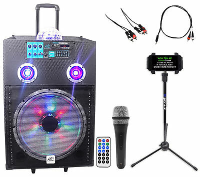"NYC Acoustics 15"" Bluetooth Karaoke Machine/System 4 ipad/iphone/Android/Tablet"