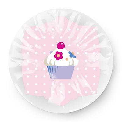 Star & Rose Cute Sweet Cupcake Print Design Lightweight Elasticated Shower Cap